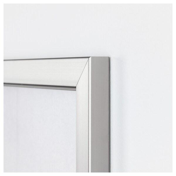 BJÖRKSTA Foto met lijst, Canal Grande/aluminiumkleur, 200x140 cm