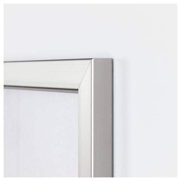 BJÖRKSTA Foto met lijst, Steenkunst/aluminiumkleur, 140x100 cm