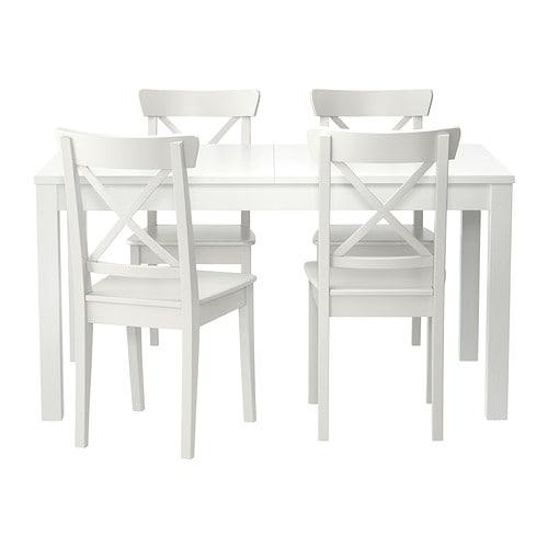 Bjursta ingolf tafel en 4 stoelen ikea - Tafel en stoelen dineren ...
