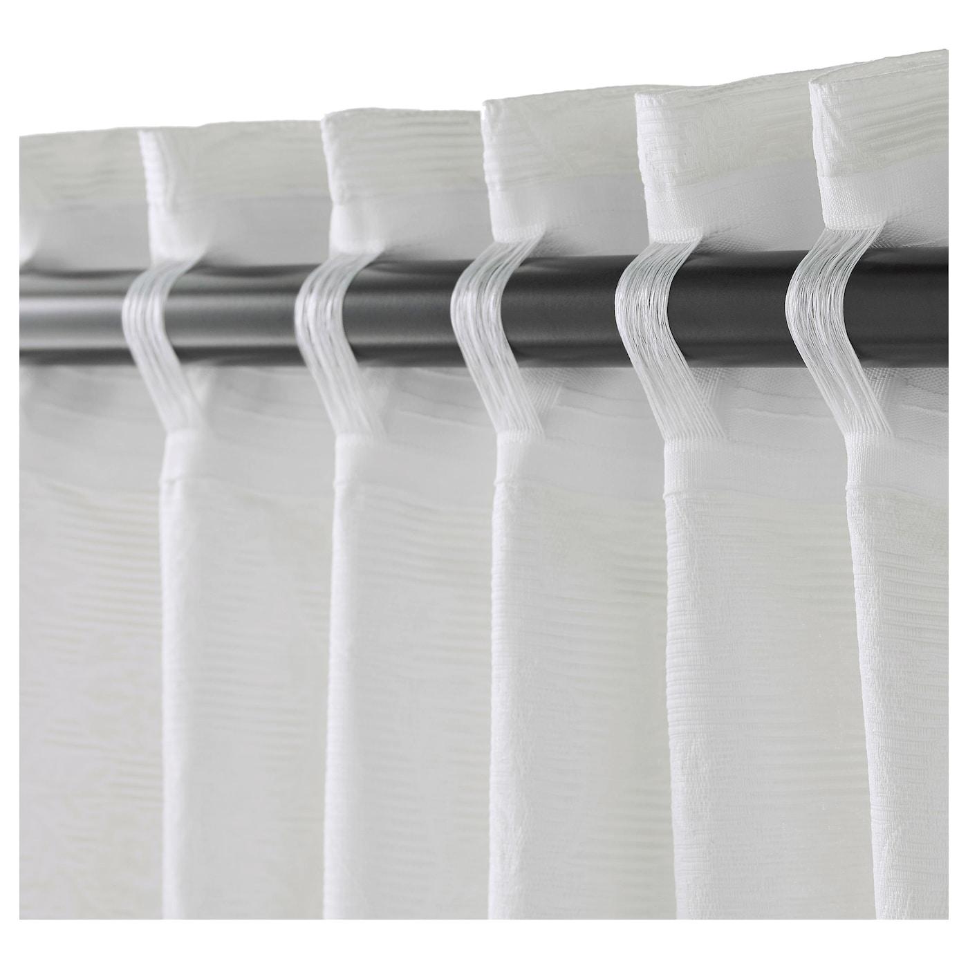 blekviva gordijnen met embrasse 1 paar wit 145x300 cm ikea. Black Bedroom Furniture Sets. Home Design Ideas