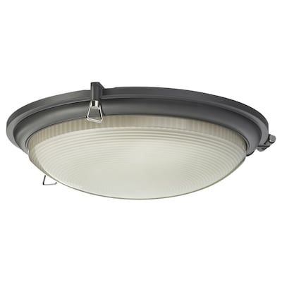 BOGSPRÖT Led-plafondlamp, antraciet, 36 cm