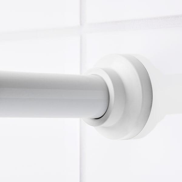 BOTAREN Douchegordijnstang, wit, 70-120 cm