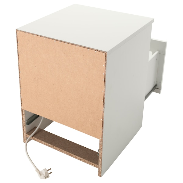 BRIMNES Nachtkastje, wit, 39x41 cm