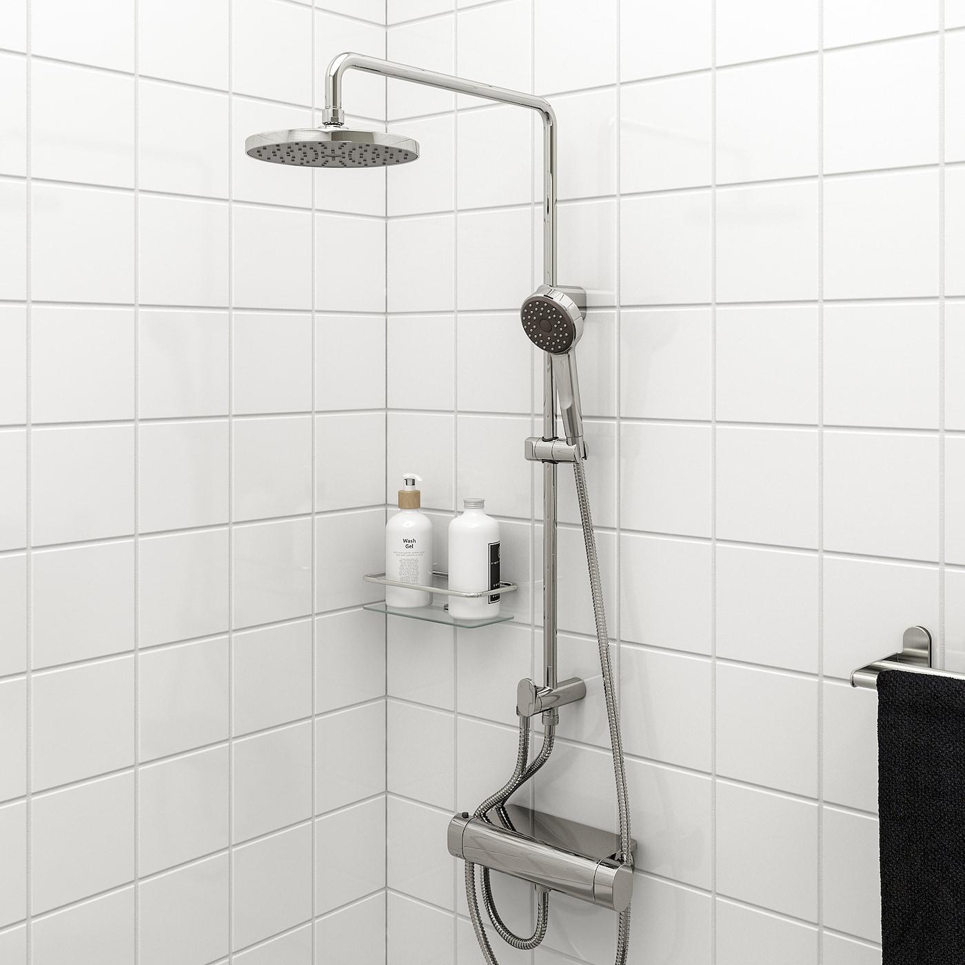 BROGRUND Plafond-/handdouche m omschakelaar, verchroomd
