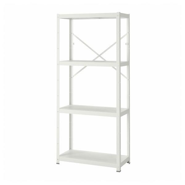 BROR 1 element/planken, wit, 85x40x190 cm