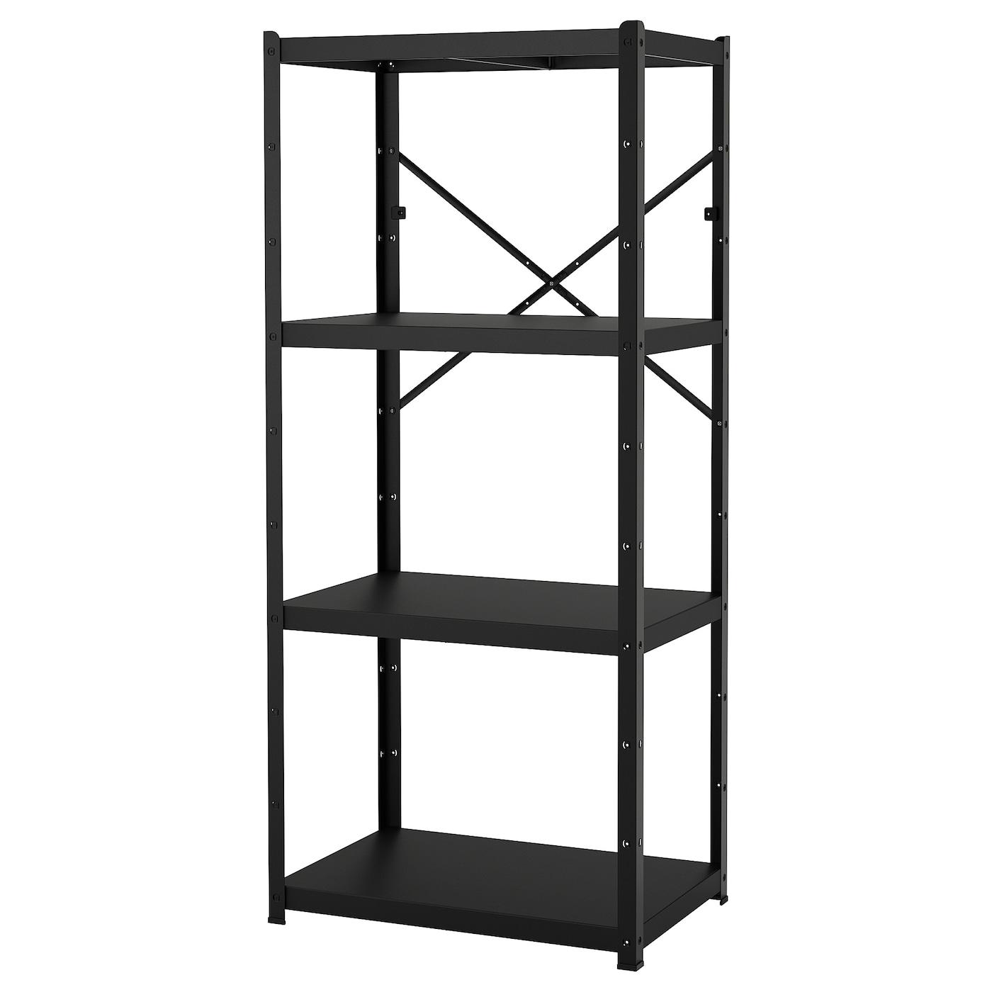Metalen Opbergrek Zwart.Opbergsystemen Rekken Vakkenkasten Ikea