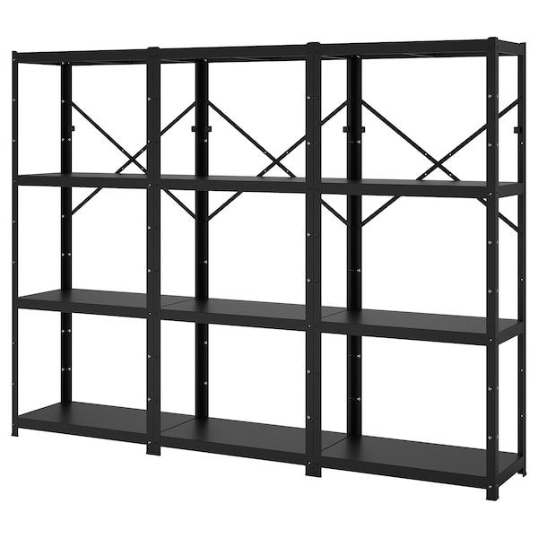 BROR Open kast, zwart, 254x40x190 cm