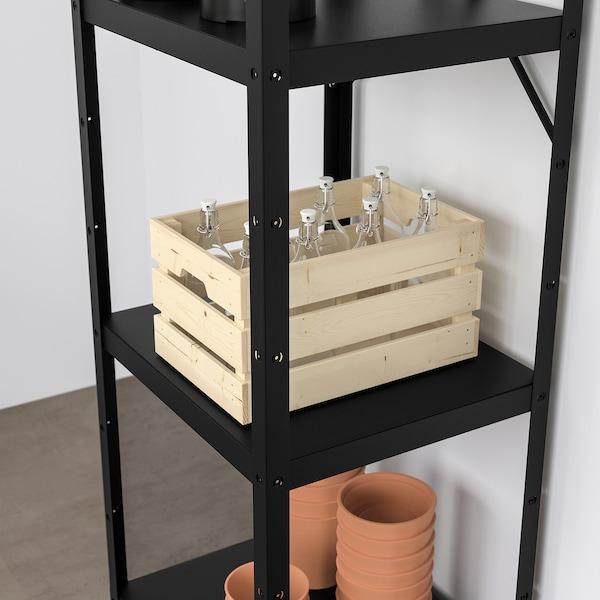 BROR Open kast, zwart, 65x55x190 cm