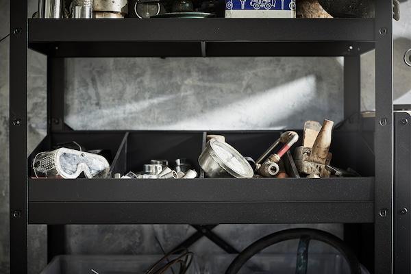 BROR Plankverdeler, zwart, 85x55x18 cm