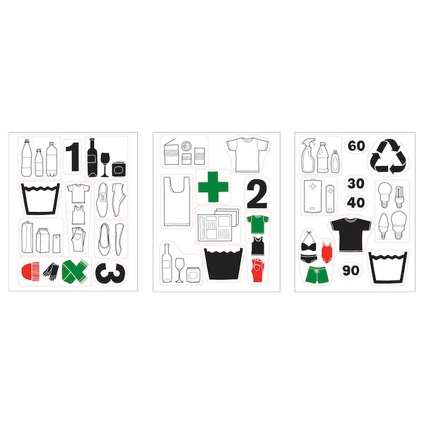 Dalliden Zelfklevende Decoratie Afval Scheiden Ikea