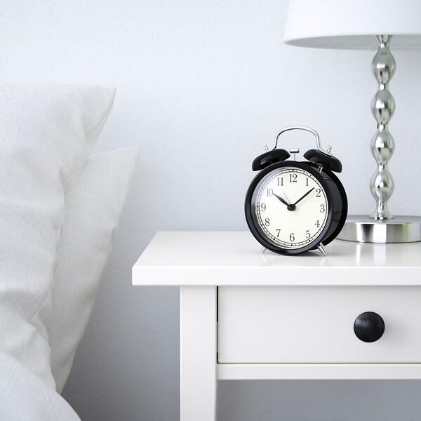 DEKAD Wekker, zwart