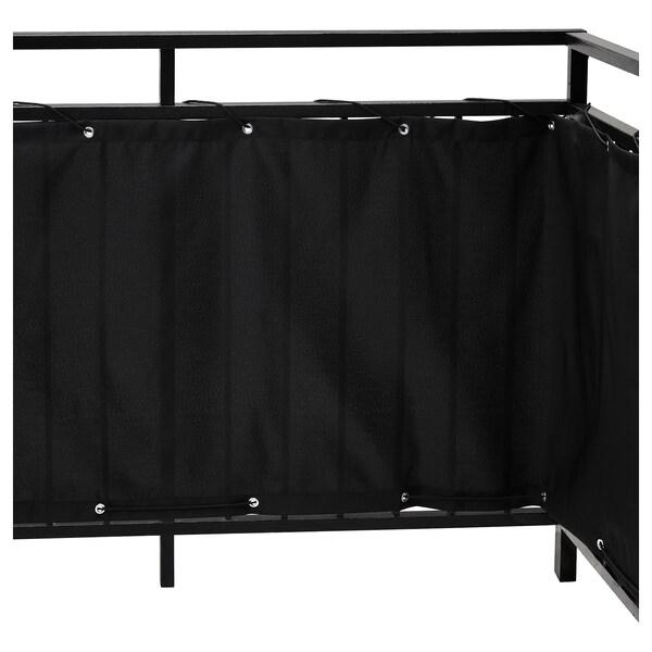 DYNING Inkijkbeschermer balkon, zwart, 250x80 cm