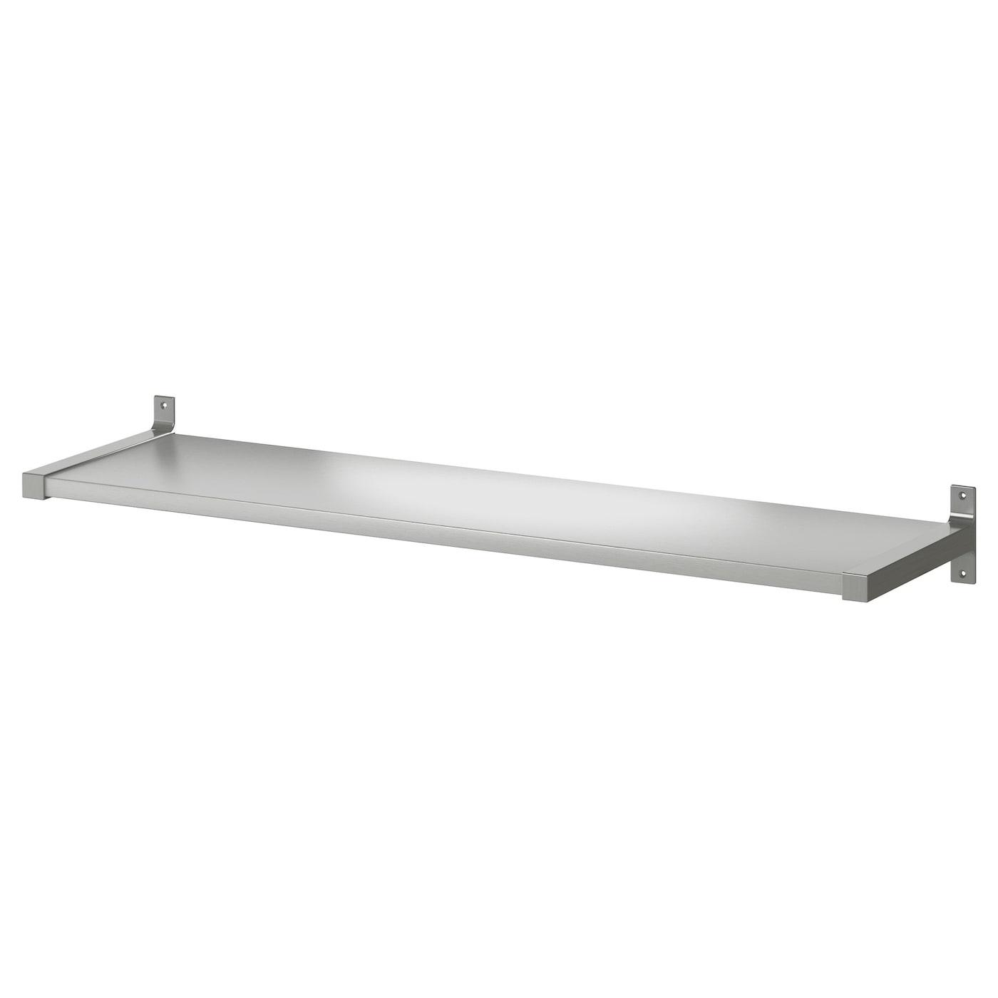 Ekby bj rnum ekby mossby wandplank aluminium 119 x 28 cm for Ikea mensole acciaio