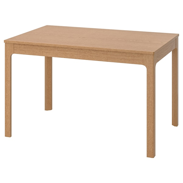 EKEDALEN uitschuifbare tafel eiken 120 cm 180 cm 80 cm 75 cm