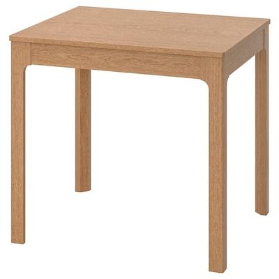 EKEDALEN Uitschuifbare tafel, eiken, 80/120x70 cm