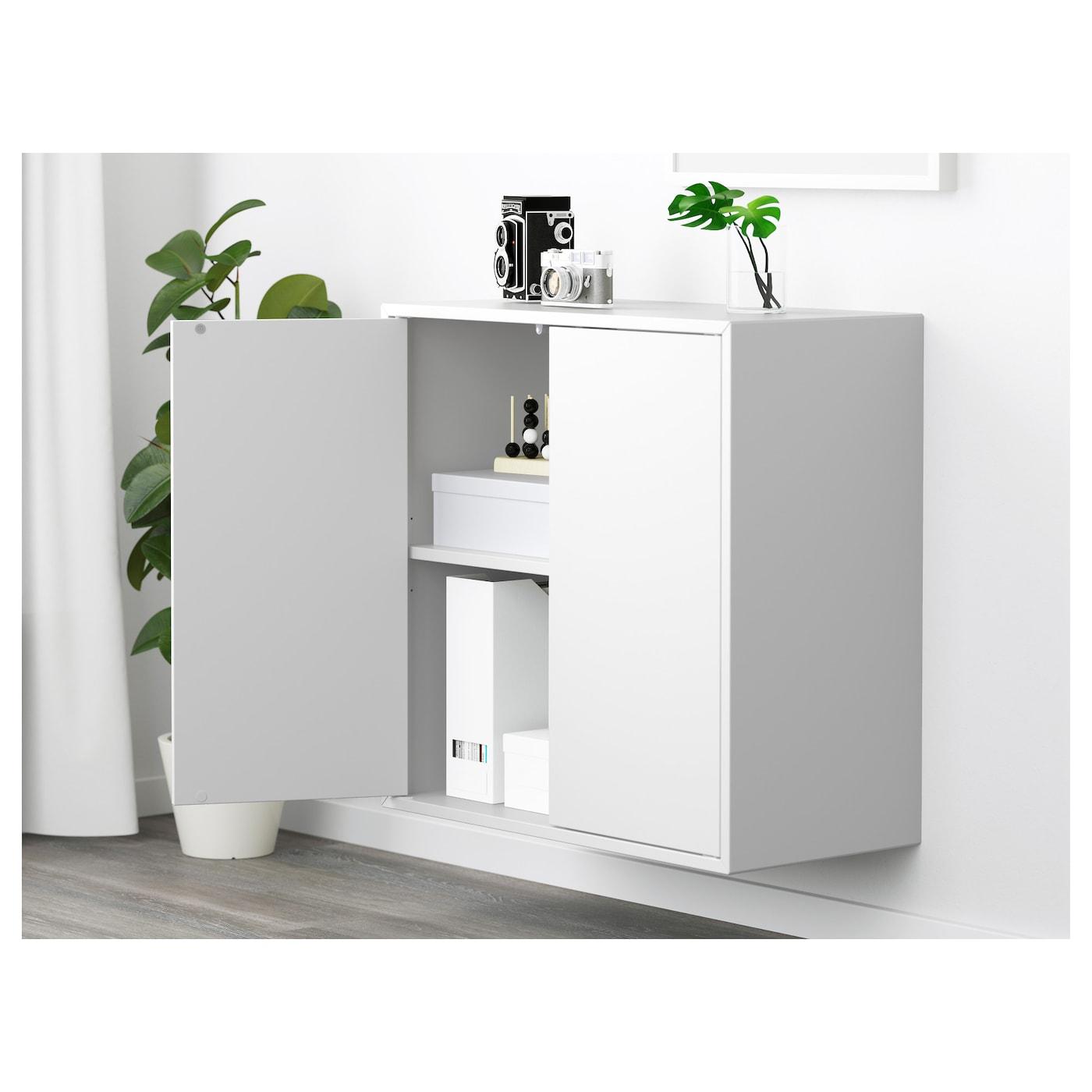 eket kast met 2 deuren en 1 plank wit 70 x 35 x 70 cm ikea. Black Bedroom Furniture Sets. Home Design Ideas