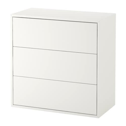 Witte Kast Met Lades.Eket Kast Met 3 Lades Wit 70 X 35 X 70 Cm Ikea