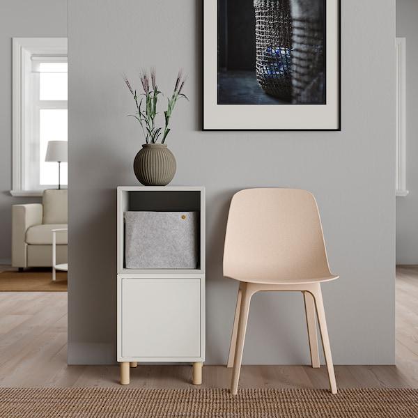 EKET Kastencombinatie met poten, wit lichtgrijs/hout, 35x35x80 cm