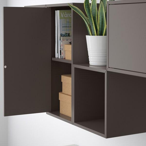 EKET Kastencombinatie voor wandmontage, donkergrijs, 175x35x70 cm