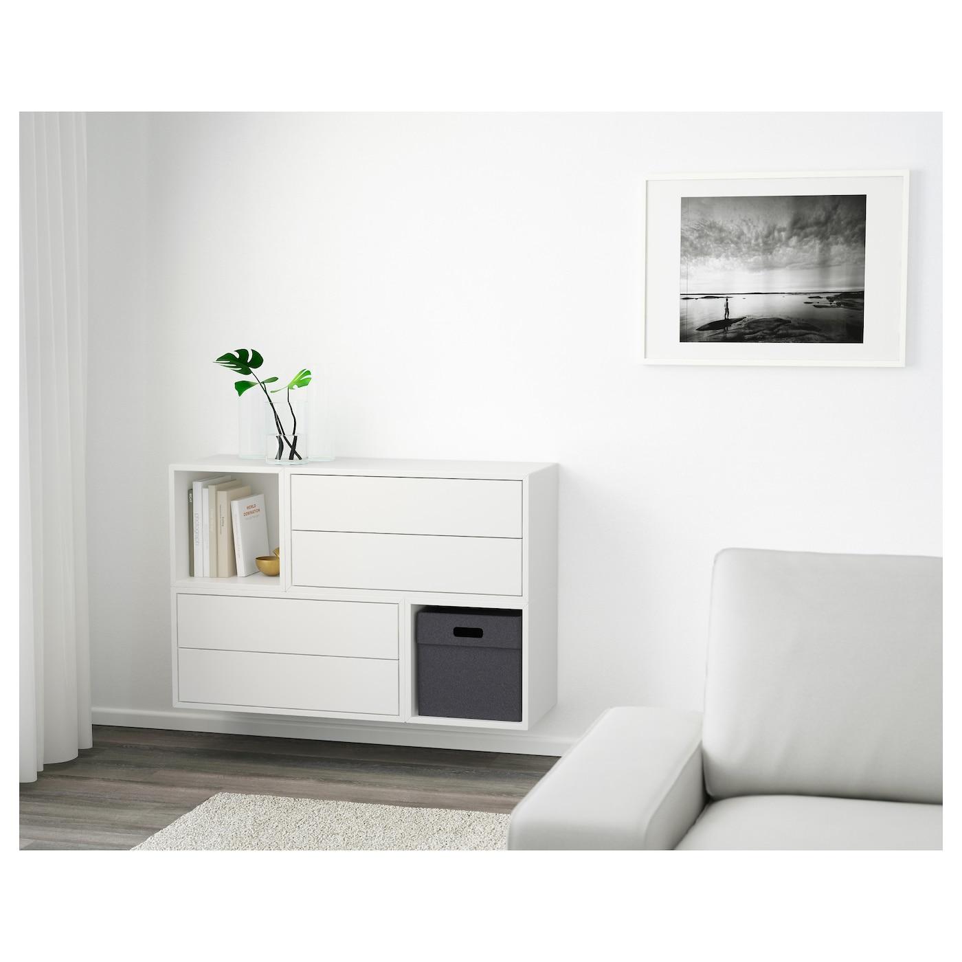 eket kastencombinatie voor wandmontage wit 105 x 35 x 70 cm ikea. Black Bedroom Furniture Sets. Home Design Ideas