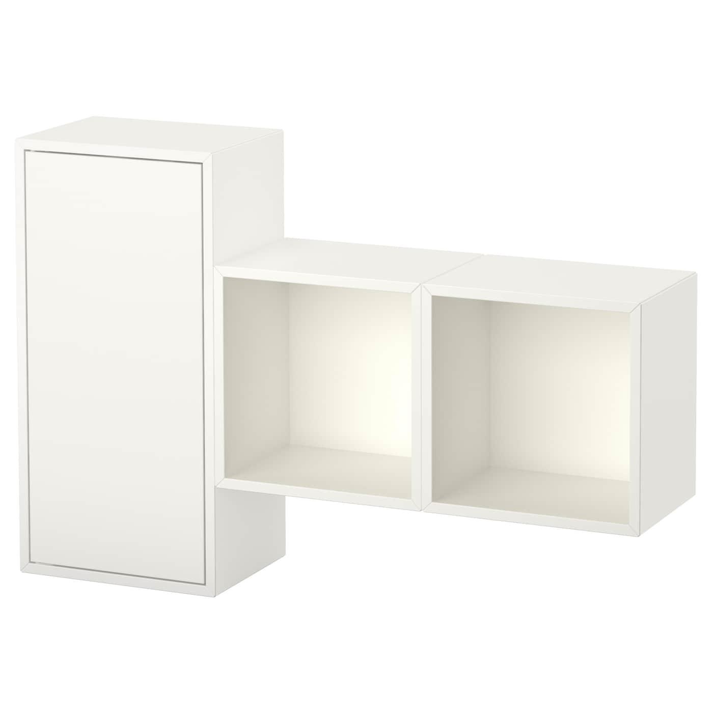 eket kastencombinatie voor wandmontage wit 105 x 25 x 70 cm ikea. Black Bedroom Furniture Sets. Home Design Ideas