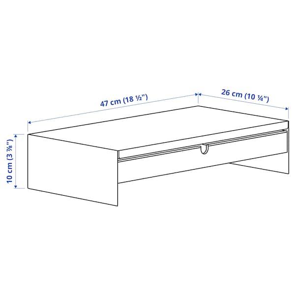 ELLOVEN Monitorstandaard met lade, wit