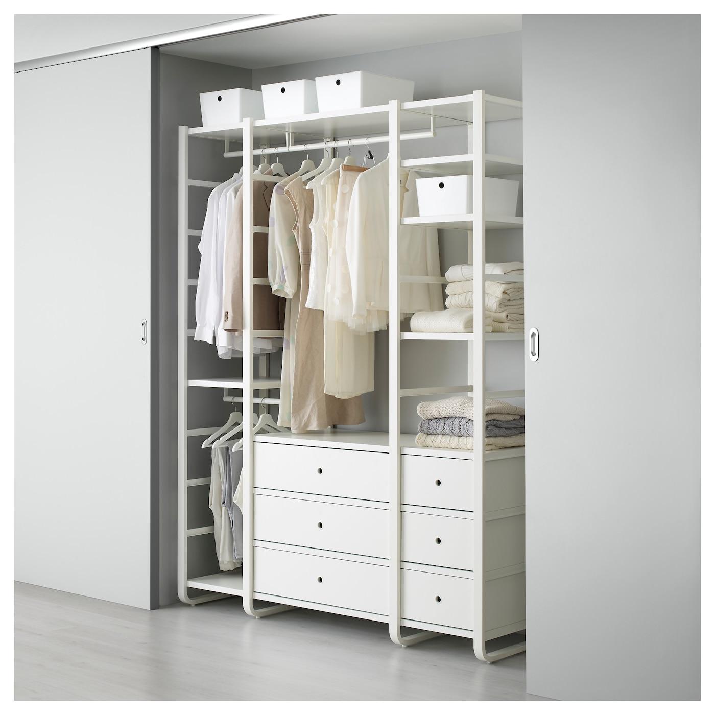 elvarli 3 elementen wit 165x55x216 cm ikea. Black Bedroom Furniture Sets. Home Design Ideas
