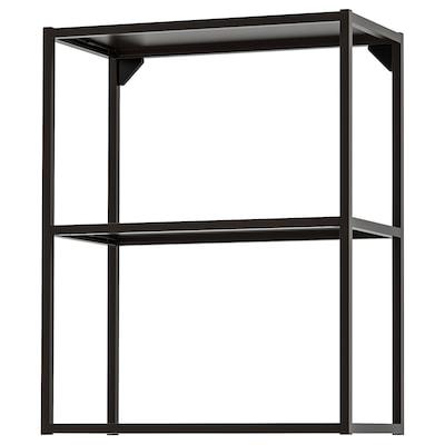 ENHET Bovenkastelement met planken, antraciet, 60x30x75 cm