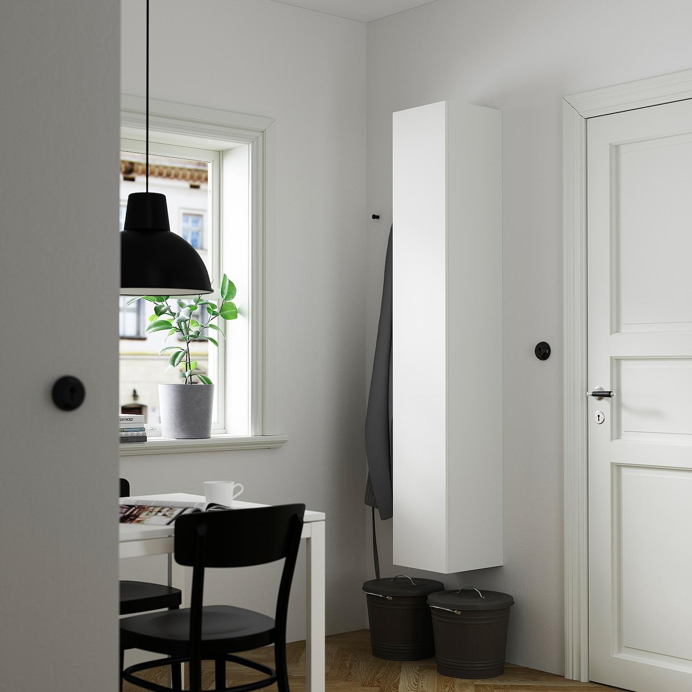ENHET Hoge kast m 4 planken/deur, wit, 30x30x180 cm
