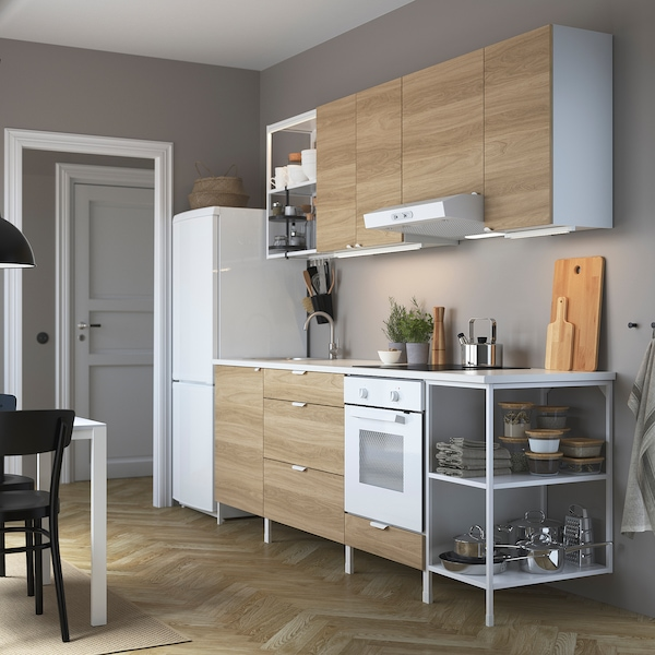 Enhet Keuken Wit Eikenpatroon Ikea