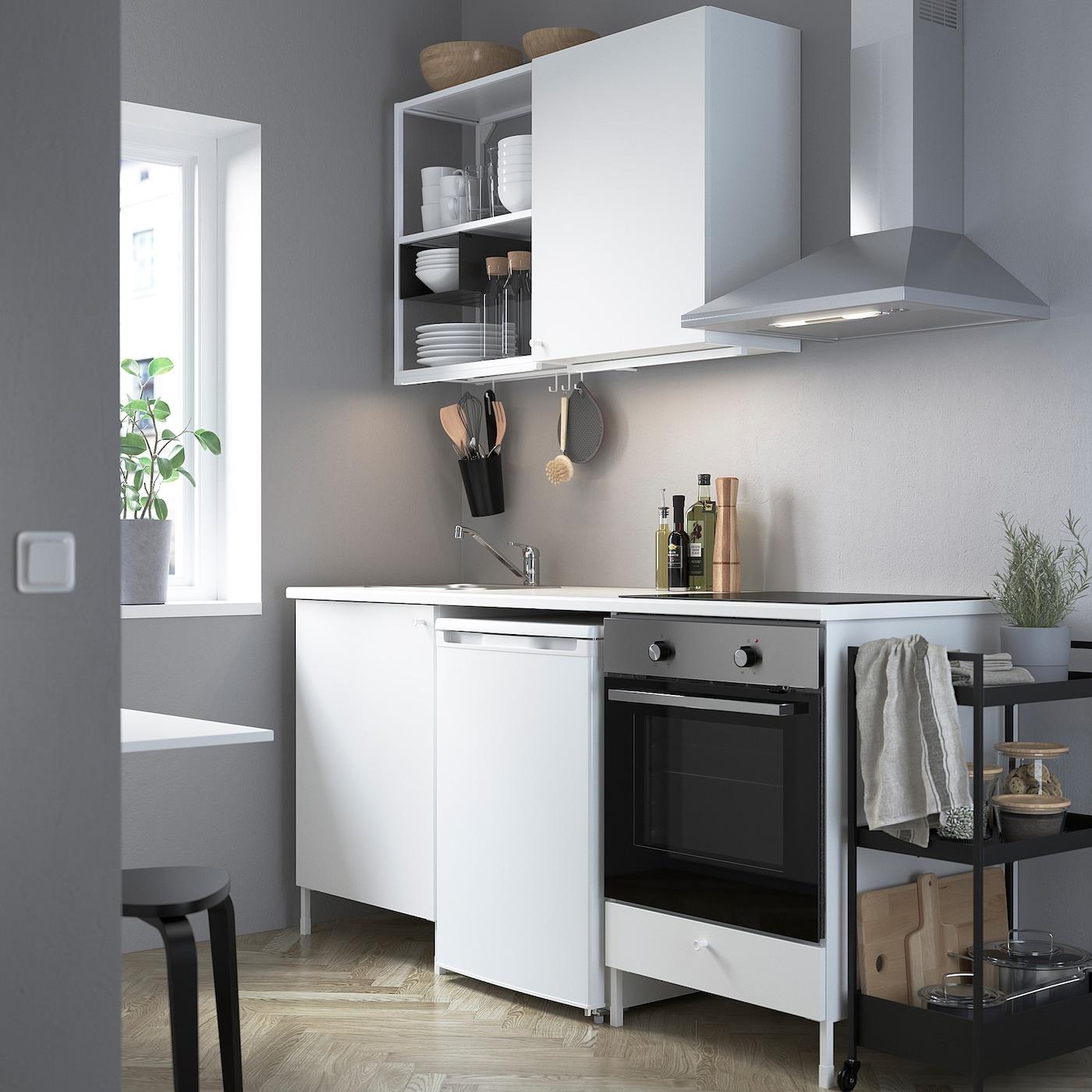 ENHET Keuken, wit, 183x63.5x222 cm