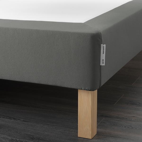 ESPEVÄR Binnenveringsmatrasbodem met poten, donkergrijs, 140x200 cm