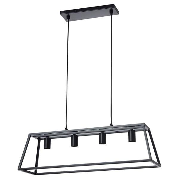 FELSISK Hanglamp met 4 lampen, zwart