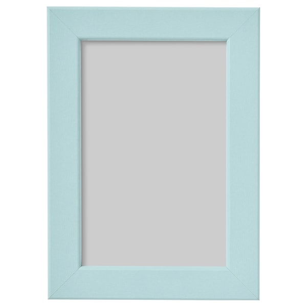 FISKBO Fotolijst, lichtblauw, 10x15 cm