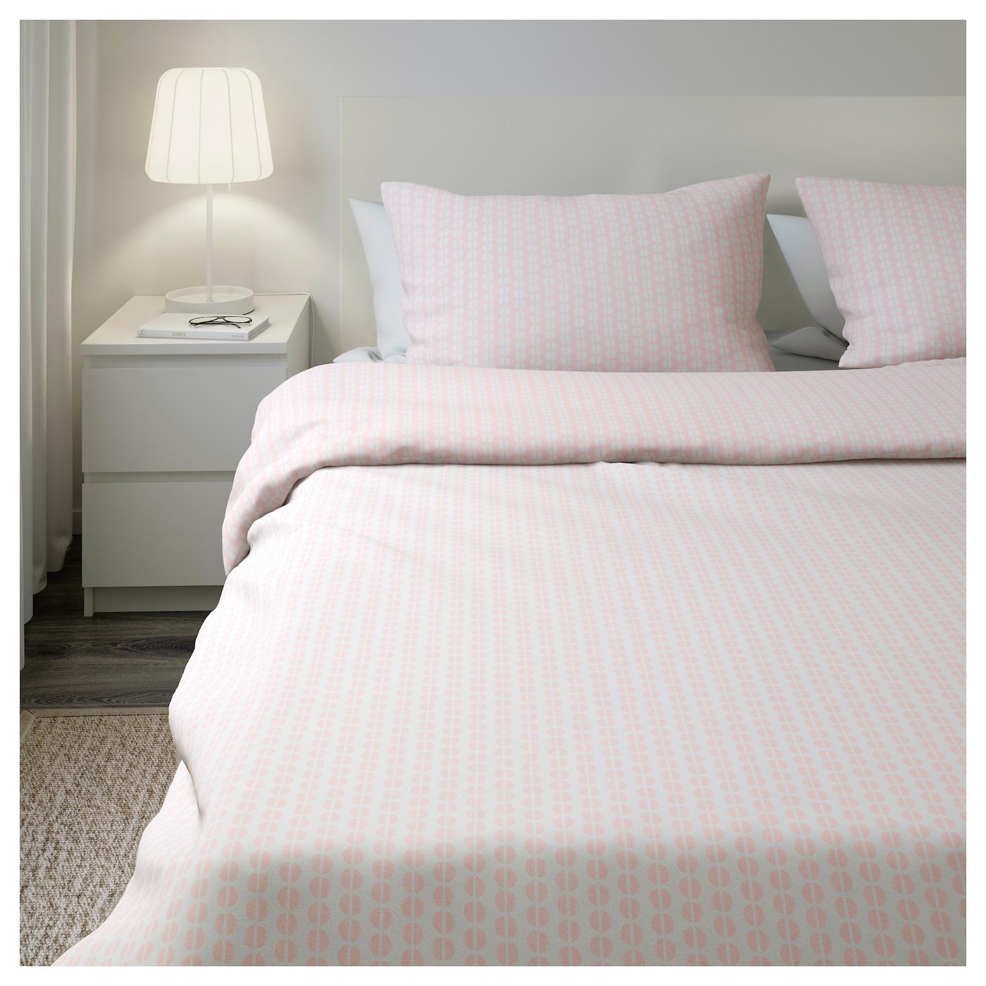 fj llvedel dekbedovertrek met 2 slopen roze 240x220 50x60 cm ikea. Black Bedroom Furniture Sets. Home Design Ideas