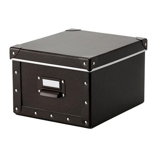 Fj lla doos met deksel bruin 22x26x16 cm ikea for Ikea accessoires bureau