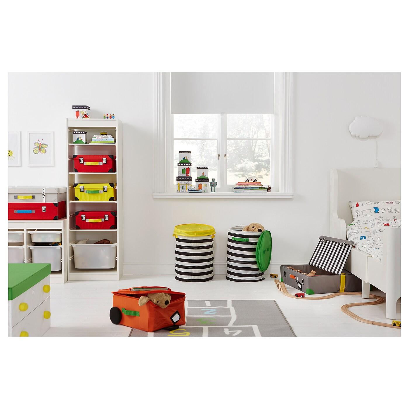 Ikea Koffer flyttbar koffer voor speelgoed turkoois 57x35x28 cm ikea