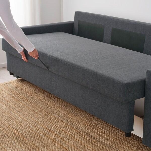 Ikea Blauwe Slaapbank.Friheten 3 Zits Slaapbank Hyllie Donkergrijs Ikea
