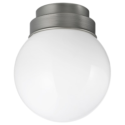 FRIHULT Plafond-/wandlamp, roestvrij staalkleur