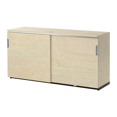 GALANT Kast met schuifdeuren - berkenfineer - IKEA