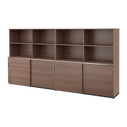 GALANT Opberger met schuifdeuren - grijs - IKEA