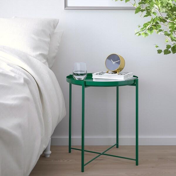GLADOM Salontafel met dienblad, groen, 45x53 cm