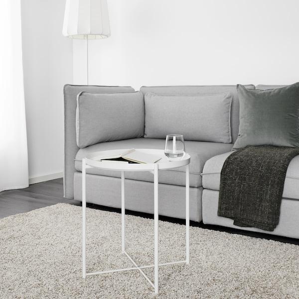 GLADOM Salontafel met dienblad, wit, 45x53 cm