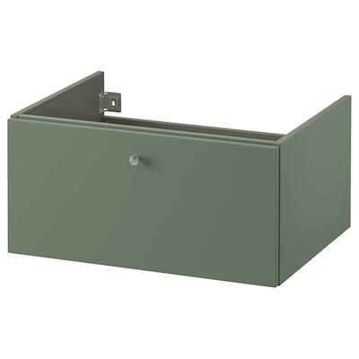 GODMORGON Kast voor wastafel met 1 lade, Gillburen grijsgroen, 60x47x29 cm