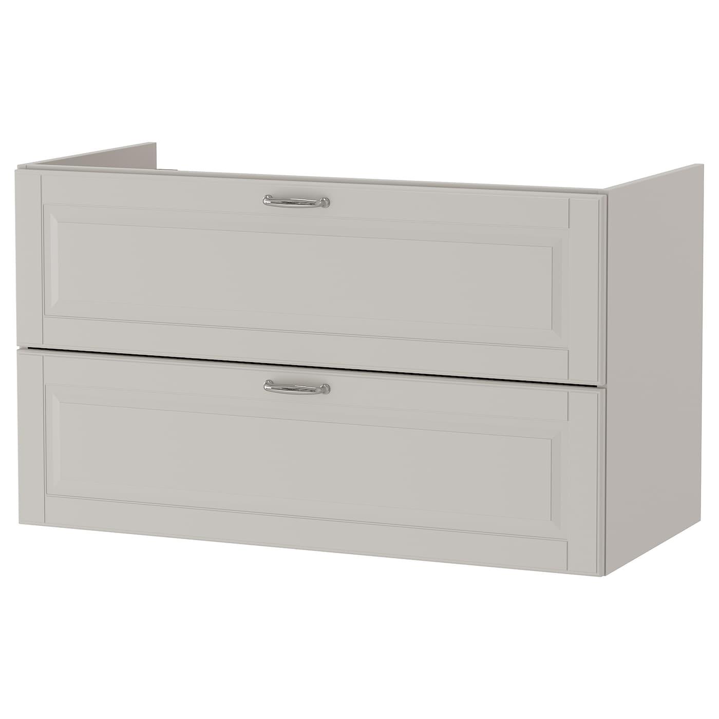 godmorgon kast voor wastafel met 2 lades kasj n lichtgrijs 100x47x58 cm ikea. Black Bedroom Furniture Sets. Home Design Ideas