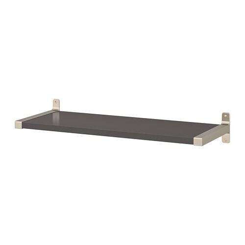 Wandplank 30 Cm.Granhult Bergshult Wandplank Donkergrijs Vernikkeld 80 X 30 Cm Ikea
