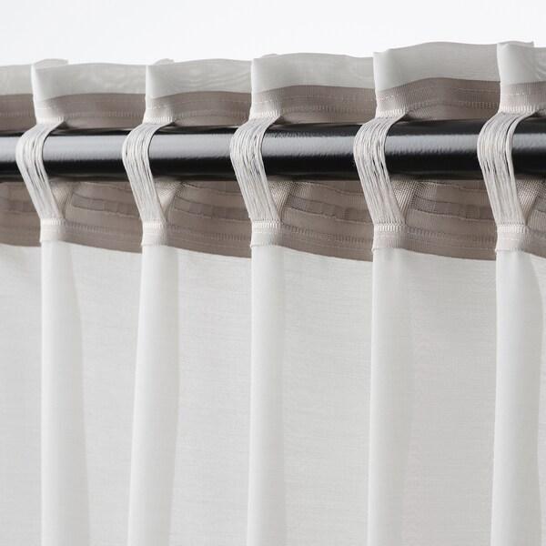 GUNRID luchtzuiverende gordijnen, 1 paar lichtgrijs 300 cm 145 cm 1.12 kg 4.35 m² 2 st.