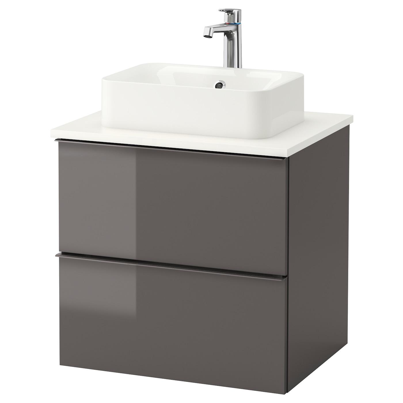 IKEA H–RVIK GODMORGON TOLKEN wastafel bi 45x32 v bovenblad