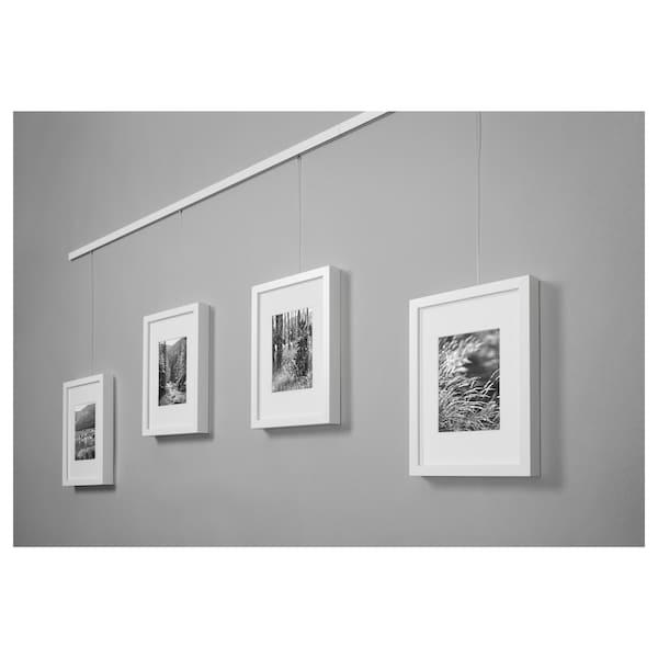 HAGHED Ophangrail voor schilderijen, wit, 115 cm