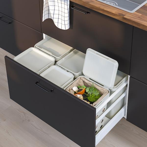 HÅLLBAR Oplossing afvalscheiding, voor METOD keukenla geventileerd/lichtgrijs, 53 l
